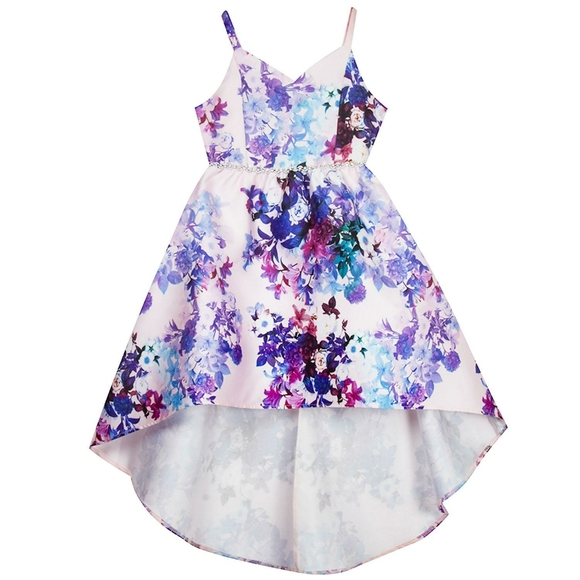 Special Occasion Purple Lilac Mesh Girls Dress Size 1 to 14